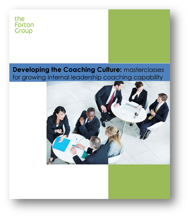 Masterclass brochure for internal coaches and building an in-house coaching community